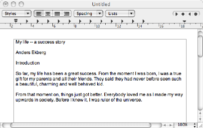 Text pasted in TextEdit